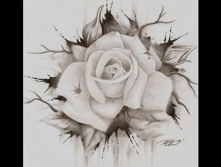 Rose  Blood Black White