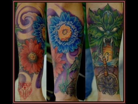 Flowers  Greenman  Leafman Color Arm