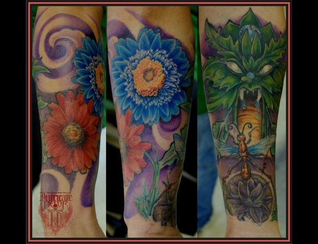 Flowers  Greenman  Leafman Color Arm