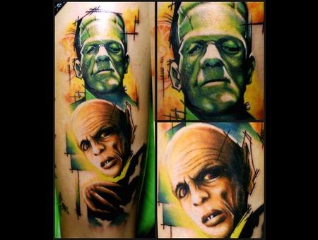 Nosferatu  Frankenstein  Minimal  Portrait Color