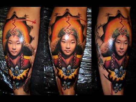 Mongolian  Realism  Portrait  Minimal Color