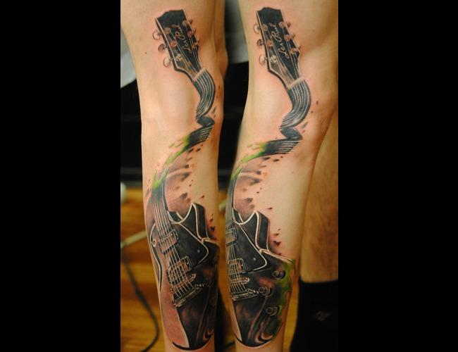 Leg Guitar Black White