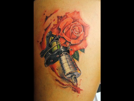 Tattoogun  Rose  Leg Color