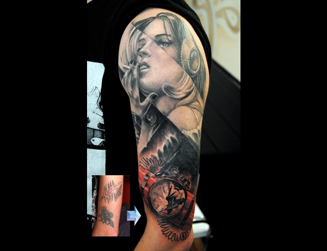 Arm Cover Up Black White