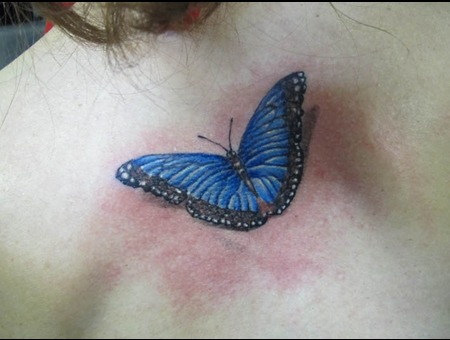 Between Shoulderblades  Butterfly Color