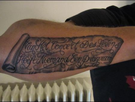 Forearm  Lettering Black White