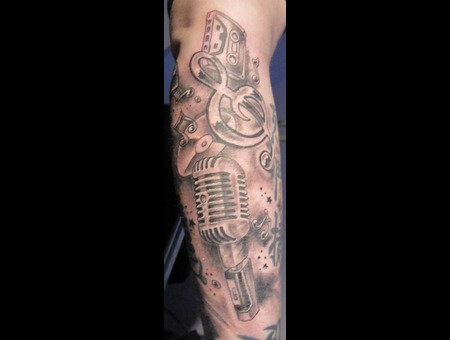 Forearm  Music Stuff Black White