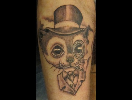 Forearm  Mr. Cat Black White