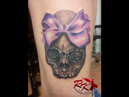 Colour  Color  Black  And  Grey  Skull  Ribbon Black White