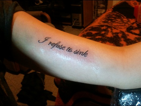 Lettering Quote Tattoo Black White