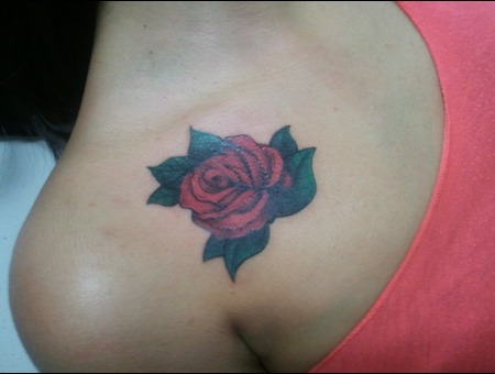 Rose Color Tattoo Color