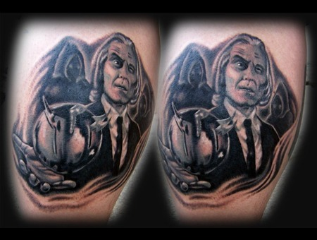 Phantasm Tattoo Black White
