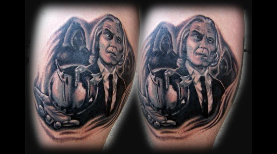 Phantasm Tattoo Black White