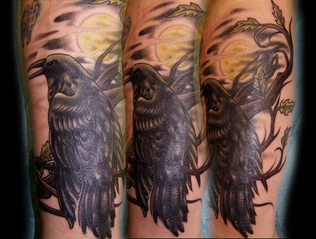 Raven Bird Tattoo  Raven Tattoo Black White