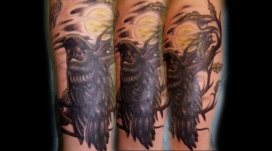 Raven Bird Tattoo  Raven Tattoo Black White