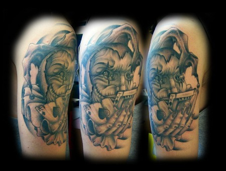 Jester Tattoo  Joker Tattoo Black White