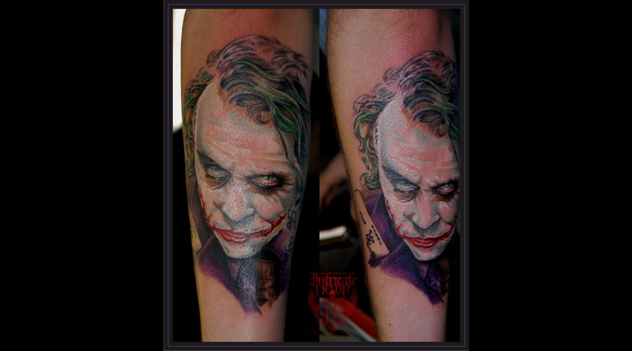 Joker Batman The Dark Knight Joker Portrait Color Arm