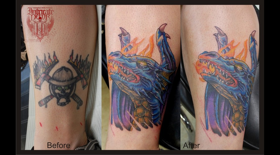 Cover Up Dragon Color Lower Leg
