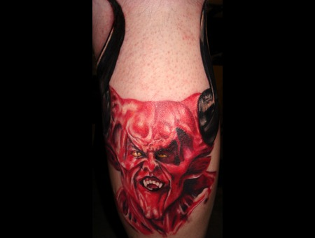 Devil  Portrait  Lord Of Darkness Color Lower Leg