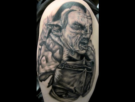 Orc  Lord Of The Rings Black White Arm