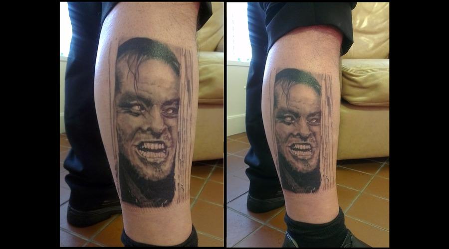 Portrait  Jack Nicholson. Black White