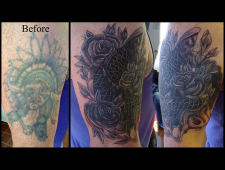 Cover Up Black White