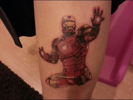 Iron Man  Leg Piece. Color