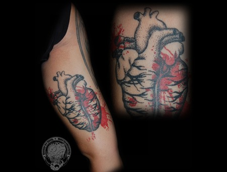 Heart  Dotwork  Trash Color