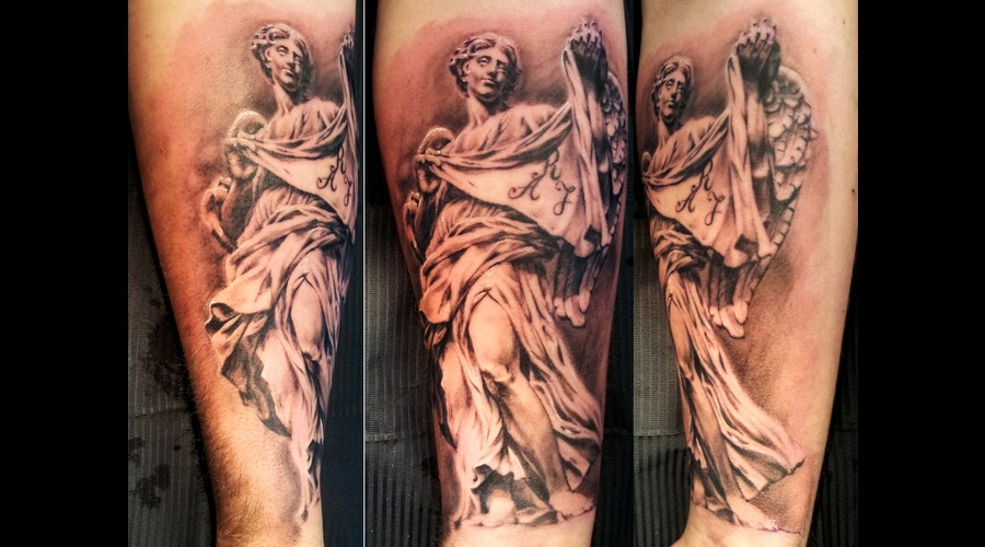 Angel  Religious  Bernini  Sculpture Black White