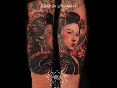 Geisha  Arm  Japanese  Color