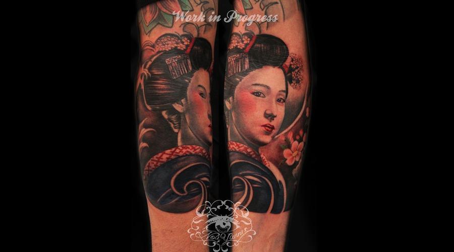 Geisha  Arm  Japanese  Color