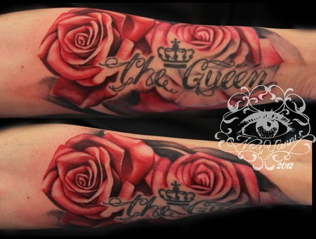 Roses  Arm  Red   Color