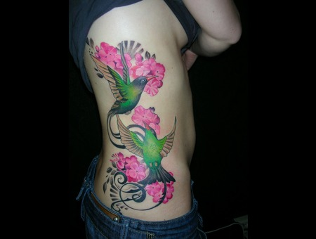 Ribs Birds Flowers Color