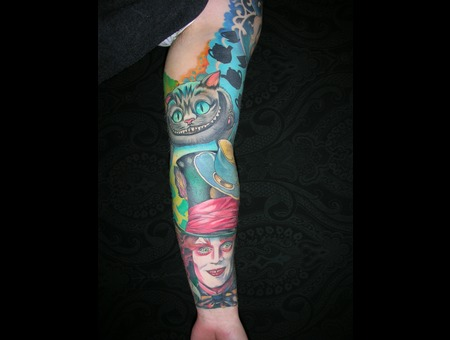 Alice In Wonderland Sleeve Colour Johnny Depp Cat Teapot Color