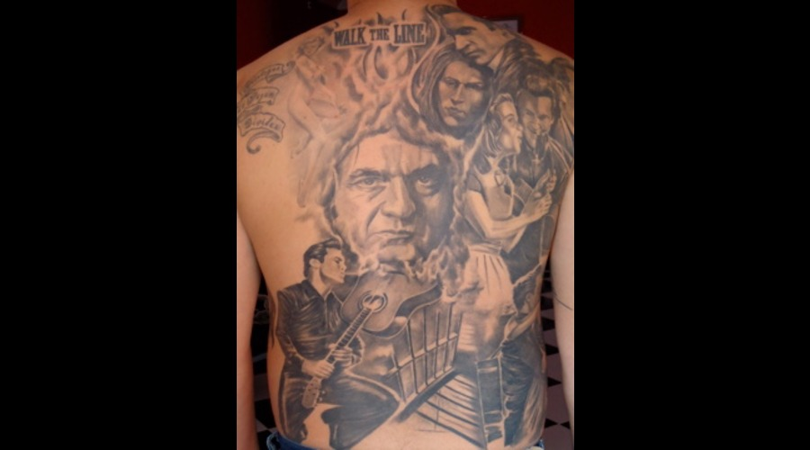 #Johnnycash Black Grey