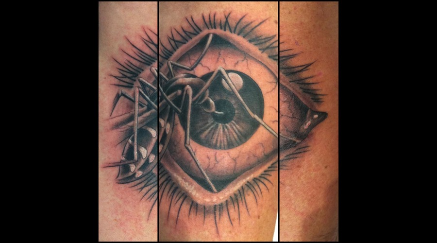 Tattoo By Klaus Huber  Mosquito Eye Realistic