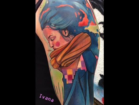 Portrait Of Girl Color Arm