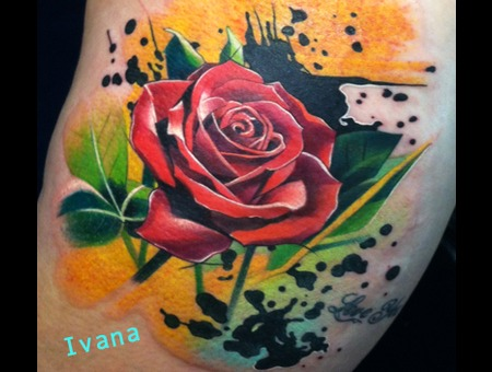 Rose Watercolor Color Thigh