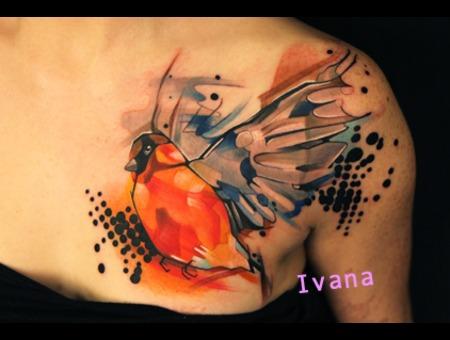 Bird Watercolor Color Chest