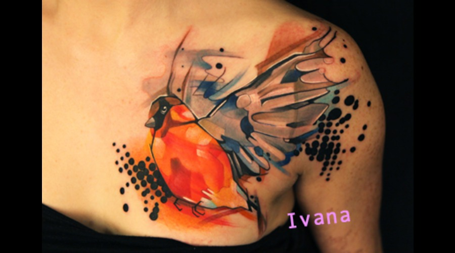 Bird Watercolor Color Chest