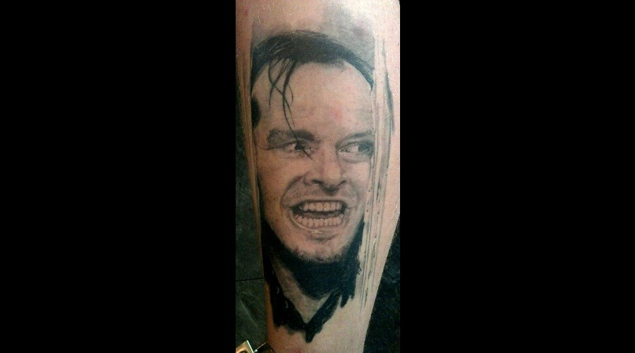 Portrait Tattoo  Jack Nicholson  Symbolic Ink  Oslo    Black White