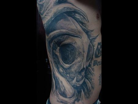 Catskull Skull Black White