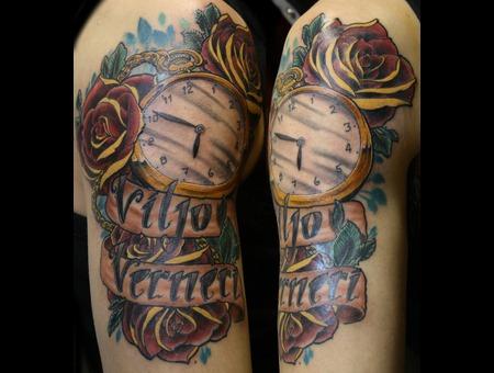 Clock  Rose
