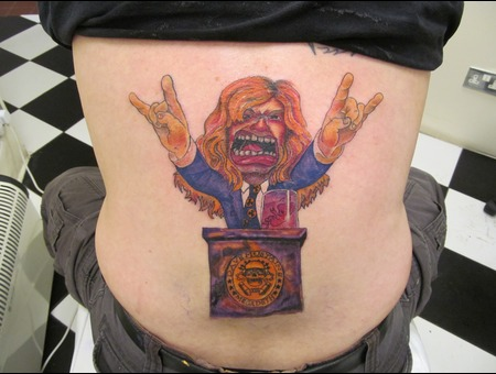 Dave Mustaine ( Megadeth ) Caricature Color