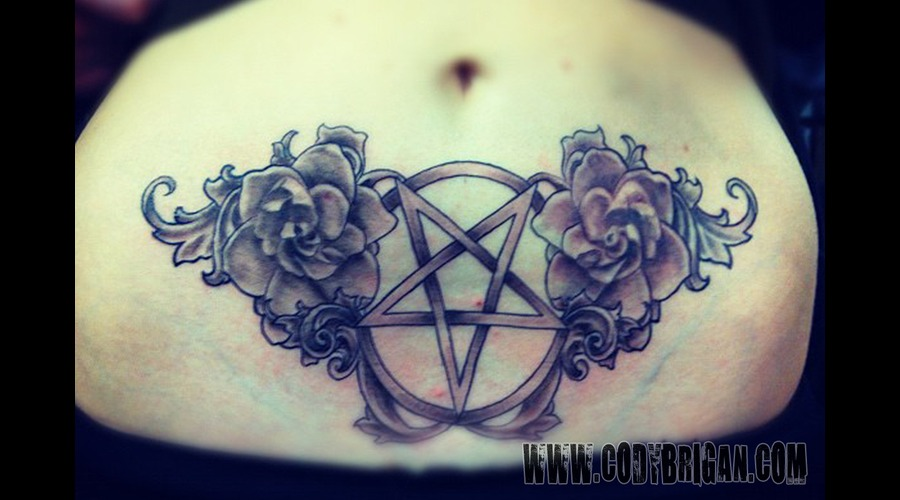 Pentagram Black White
