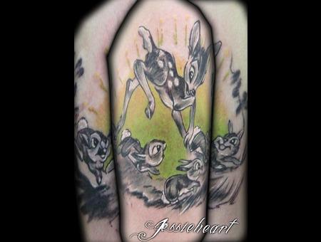 Bambi  Color Tattoo  Disney Tattoo Color