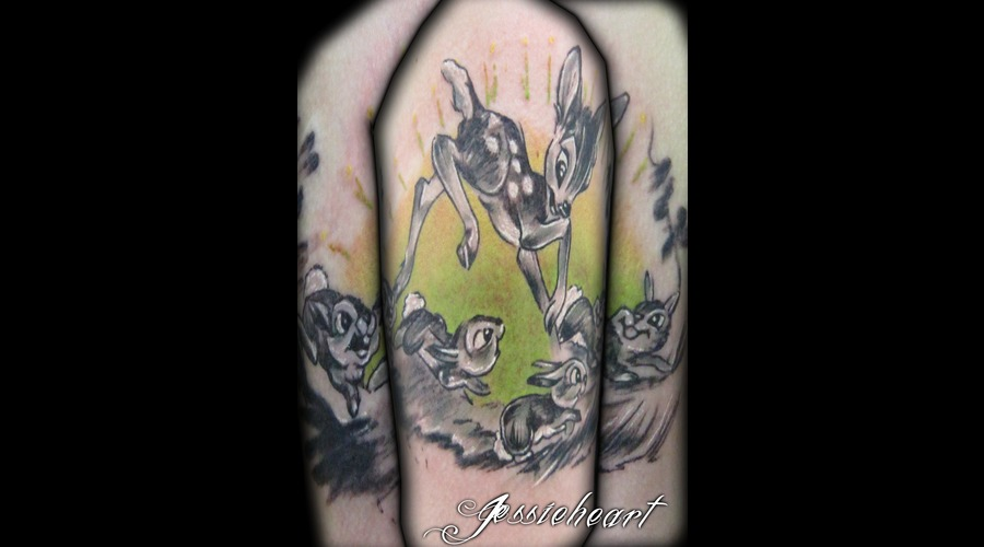 Bambi  Color Tattoo  Disney Tattoo Color