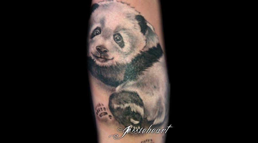 Panda  Panda Tattoo  Black And White Black White