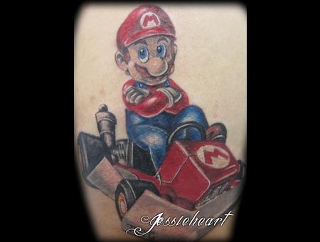 Mario  Mart Kart  Color Tattoo Color