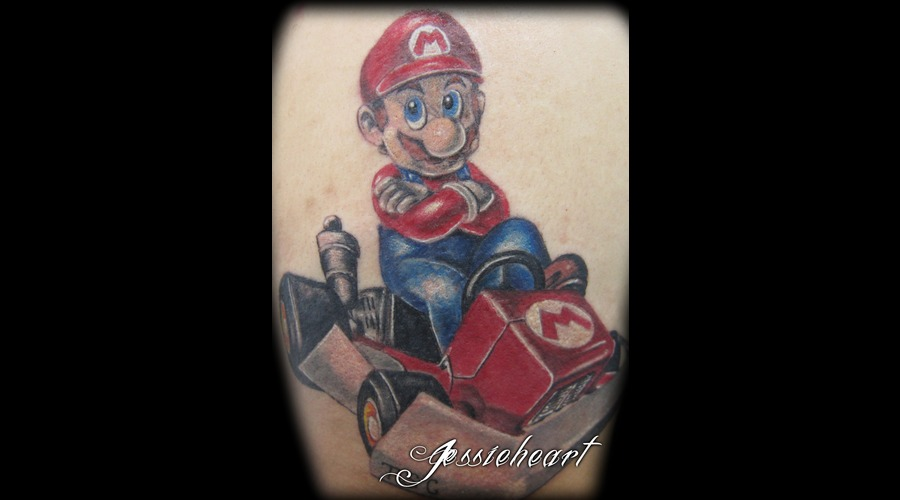 Mario  Mart Kart  Color Tattoo Color